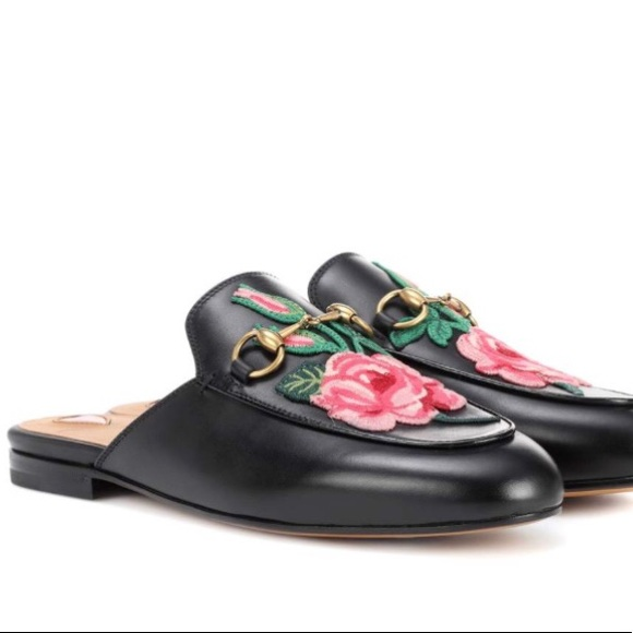 Gucci Shoes - Gucci Princetown Loafer Rose Embroidered d9549c781577